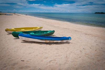Kayaks on Kande Beach