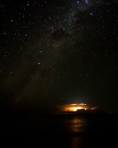 Milky Way and Lightening Storm on Lake Malawi