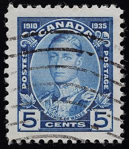 Edward Prince of Wales Canada 1935 postage stamp