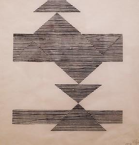 Lygia Pape woodcut print