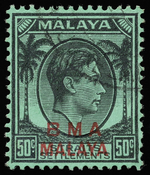 Malaya British Military Administration (BMA) 50c