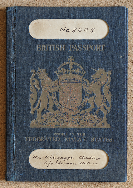 pre-war Federated Malay States British passport cover