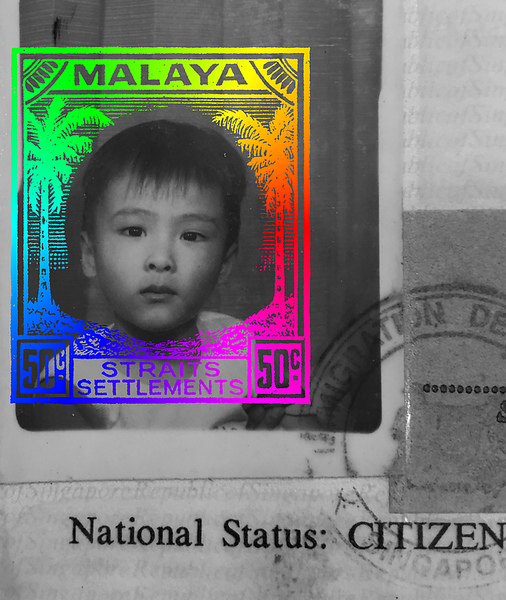 Malaya coconut stamp Lin Yangchen colour wheel