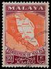 Federation of Malaya map on postage stamp 1957