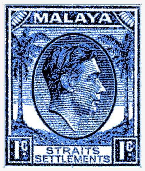 Malaya Straits Settlements KGVI 1c