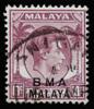 BMA Malaya SNIGAPORE cancellation error on 10c