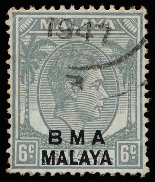 BMA MALAYA 6c grey