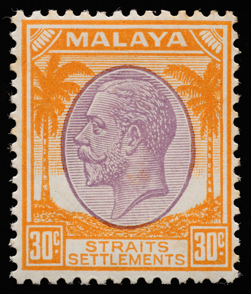 Straits Settlements 1936 King George V