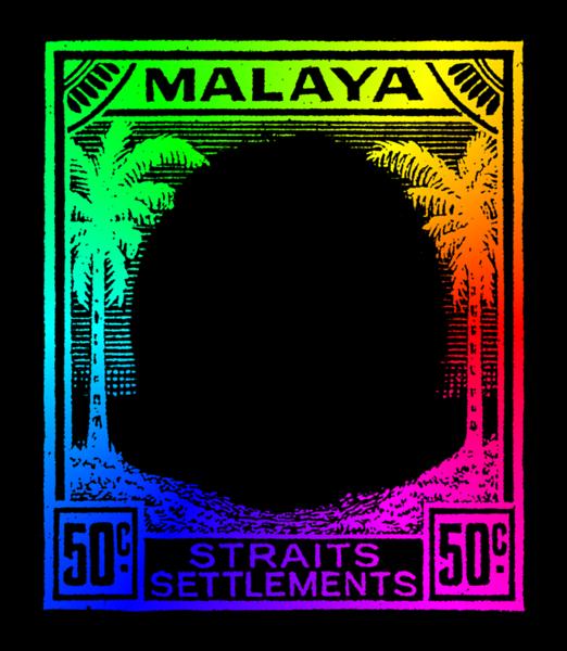 Malaya small heads issue colour wheel