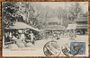 Malaya postcard showing Malacca market, sent from Chile to Argentina in 1922