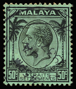 Straits Settlements 1936 King George V