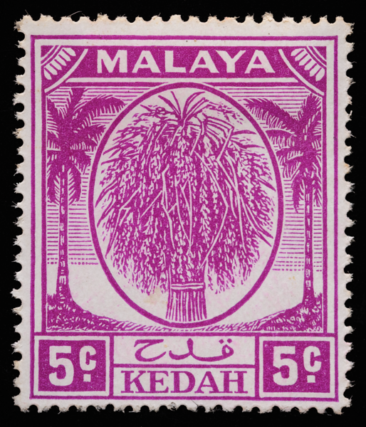 Malaya Kedah sheaf of rice 5c