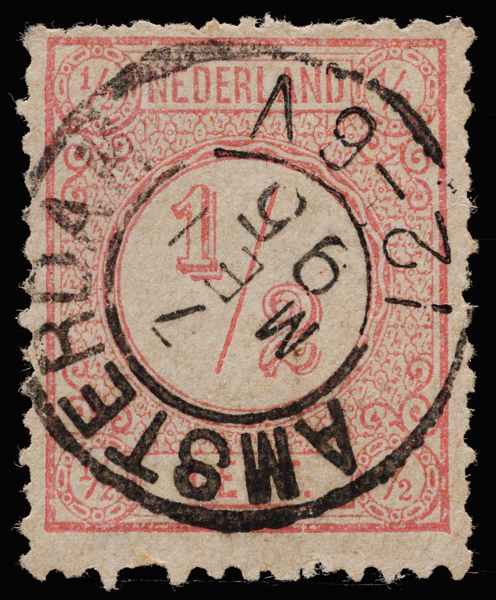Netherlands 1894–1899 half-cent pink definitive