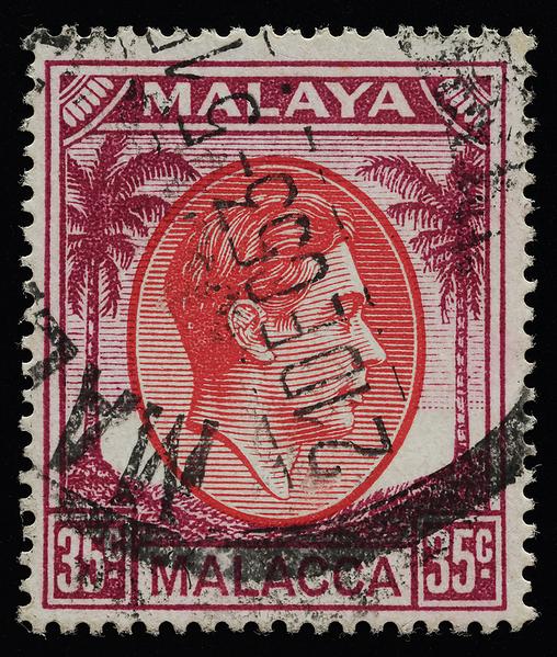 Malaya Malacca KGVI small heads issue 35c