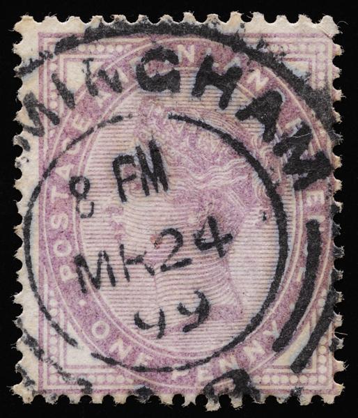 Queen Victoria Penny Lilac Die II 1881—1901