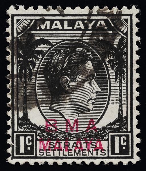 BMA Malaya 1 cent magenta overprint