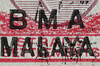 BMA Malaya 25 cents overprint reversed offsets