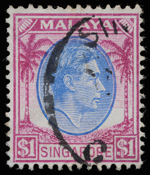 Malaya Singapore 1948 King George VI $1