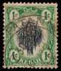 Kedah 1912 SG1 1c black and green sheaf of rice