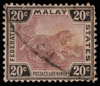 Federated Malay States tiger definitive 20c mauve and black