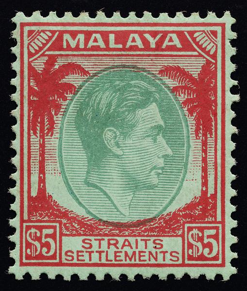 Malaya Straits Settlements $5 KGVI mint 1937