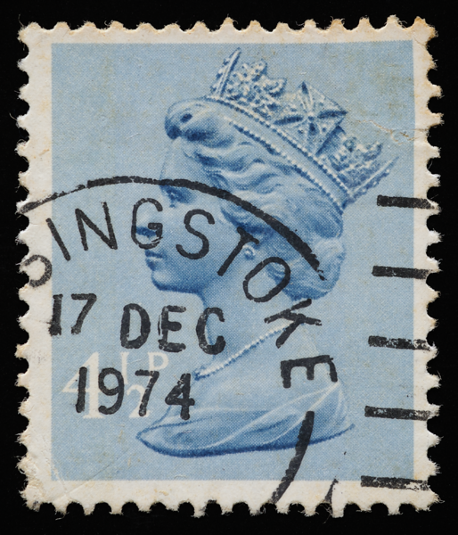 GB Machin definitive stamp October 24 1973