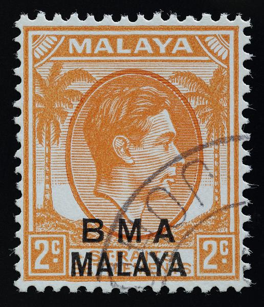 BMA Malaya 2c die I SG3 darker vignette