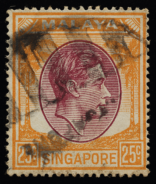 Singapore 1949 25c KGVI