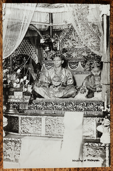 Malaya postcard: wedding of Tengku Abu Bakar and Raja Fatimah, 1925