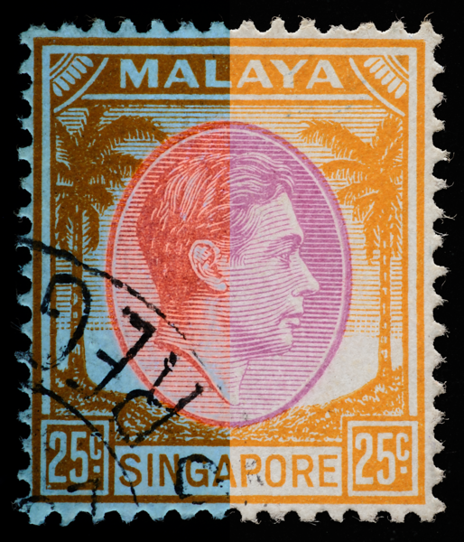 Malaya Singapore 1948 King George VI 25c Die III