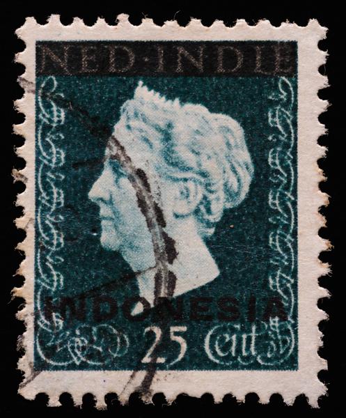 Netherlands East Indies 1948 Queen Wilhelmina overprinted Indonesia