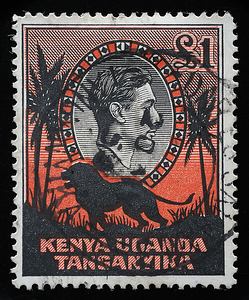 KUT Kenya Uganda Tanganyika King George VI 1938 definitive £1 lion