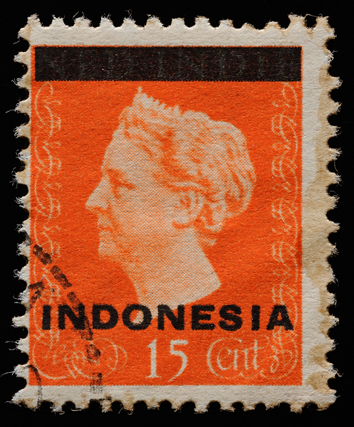 Netherlands East Indies 1948 Queen Wilhelmina overprinted Indonesia