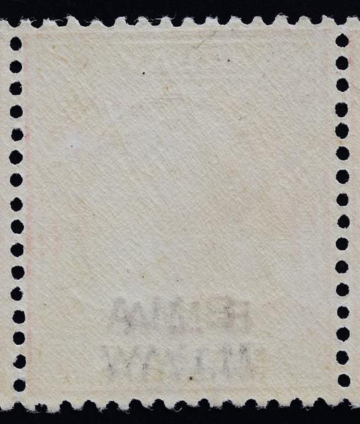BMA Malaya 25c double overprint, one albino, reverse