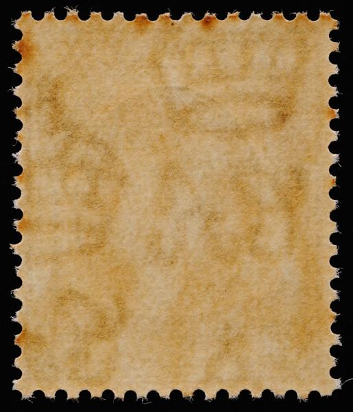 Multiple Crown Script CA watermark with toned gum
