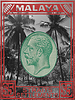 Malaya coconut definitive stamp design with photo of Palawan coconut palms