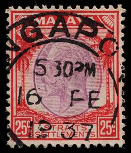 Malaya Straits Settlements KGV 25c