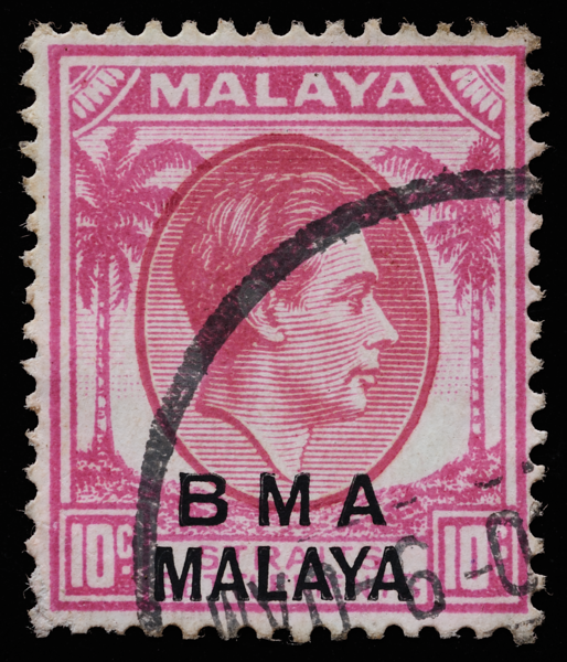 Malaya British Military Administration (BMA) 10c bicolour on chalky paper