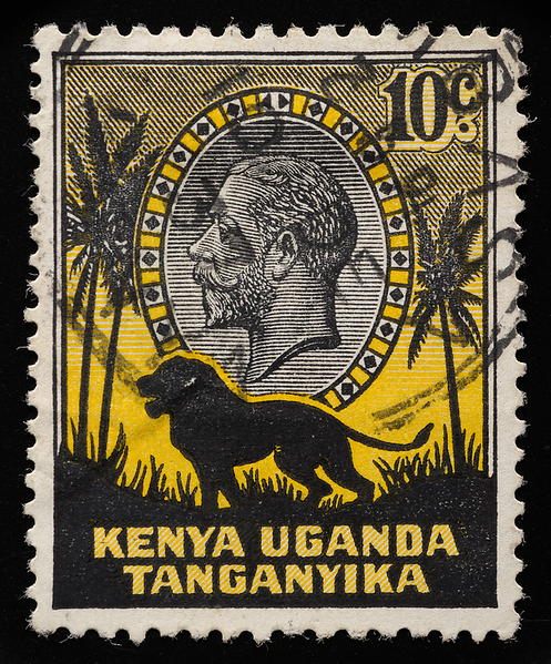 KUT Kenya Uganda Tanganyika King George V 1935 definitive 10c lion