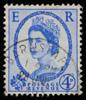 GB QEII oblique photographic portrait definitive stamp 1952