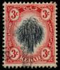 Kedah 1912 SG2 3c black and red sheaf of rice