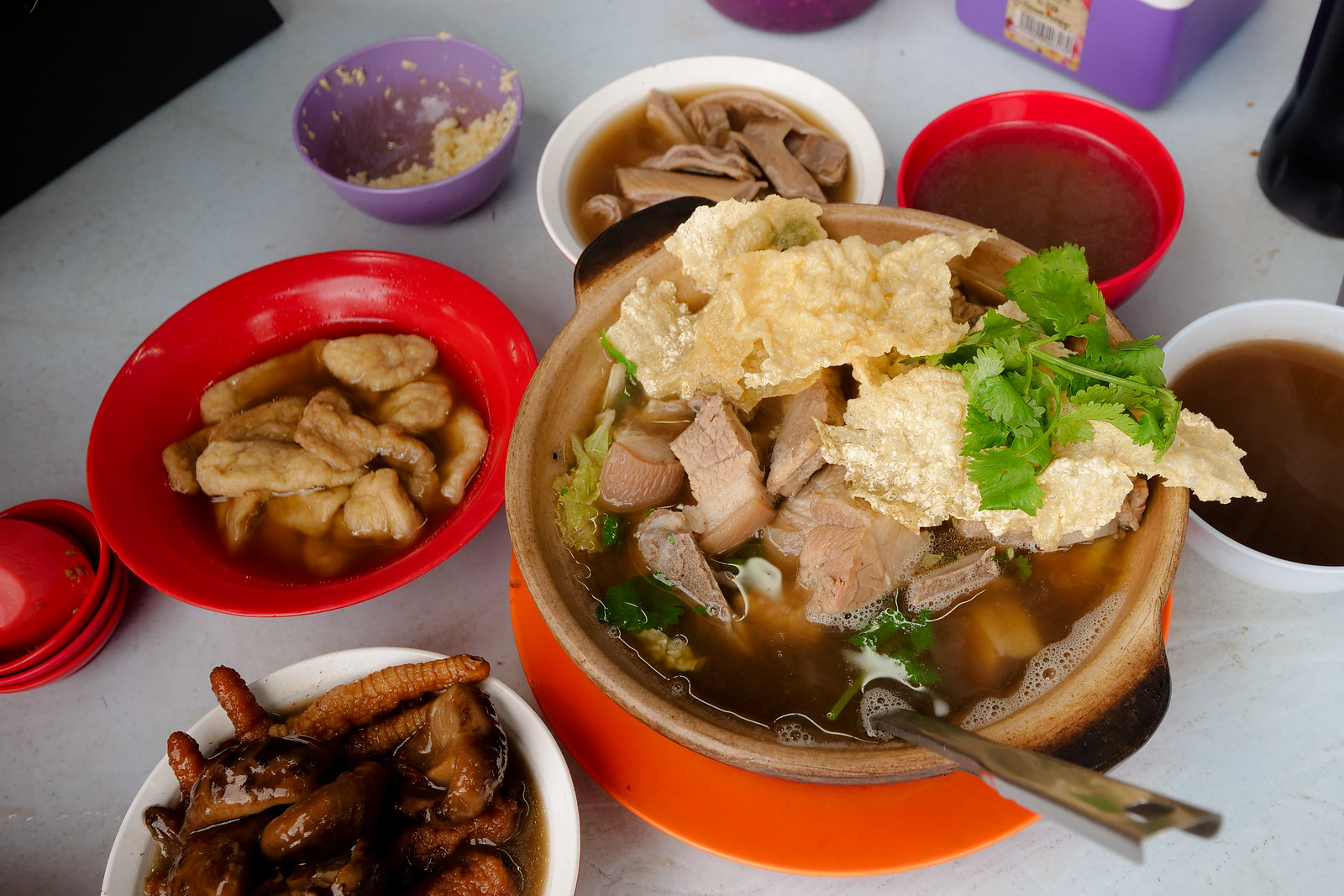 This is a healthy, traditional, herbal soup loved by Chinese-Malay throughout Malaysia and Singapore, and a great place to have it, is Yik See Ho Bak Kut Teh