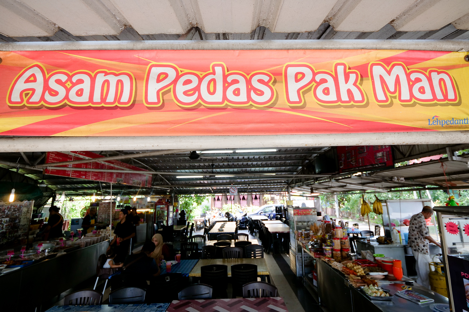 Asam Pedas Pak Man is a wonderful restaurant serving sour spicy soup curry in Melaka