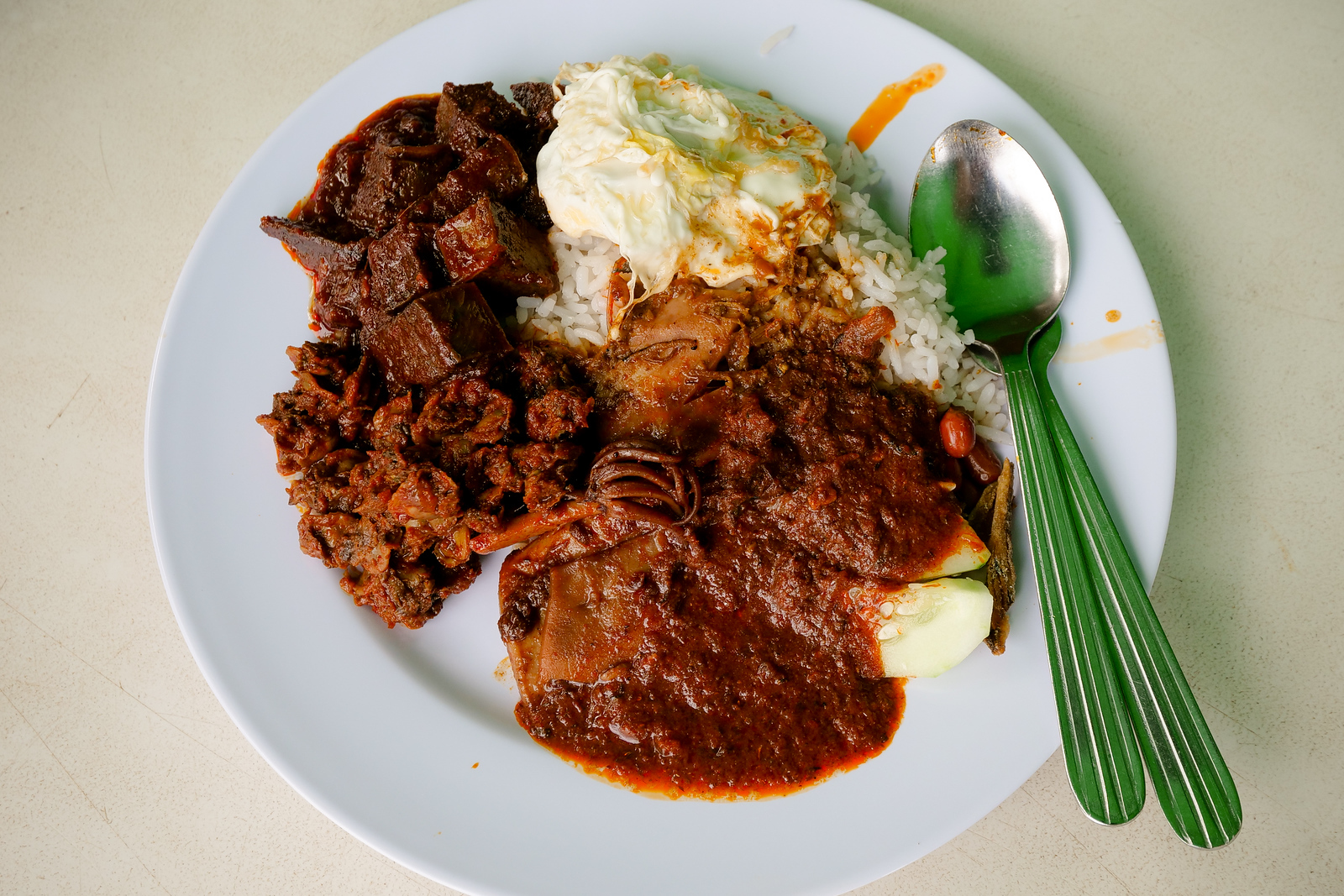 Amazing and delicious plates of Nasi Lemak for early lunch today