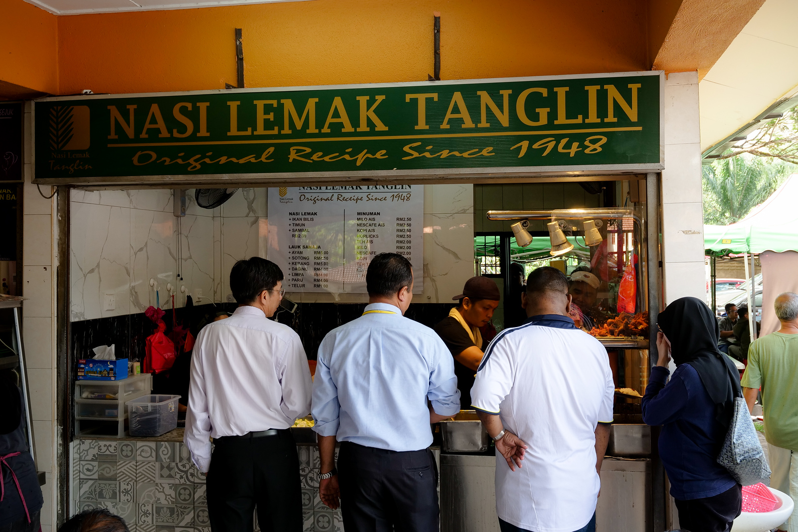 Open since 1948, this restaurant is a famous place to have Nasi Lemak in Kuala Lumpur, Malaysia