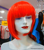 Mannequin with orange hair in Kuala Lumpur, Malaysia in September 2012