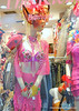 An elaborately dressed mannequin in a shop window in Kuala Lumpur, Malaysia in September 2012