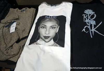 A t-shirt with a picture of the singer Sade on it seen in Kuala Lumpur, Malaysia in August 2017