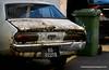 Rusted out car in Kuching, Sarawak, Malaysia in January 2012