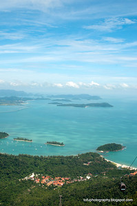 The view from the cable car station lookout at Langkawi, Malaysia, in June 2011. Below is the Oriental Village